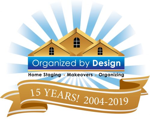 Organized by Design 15 Year Anniversary Logo
