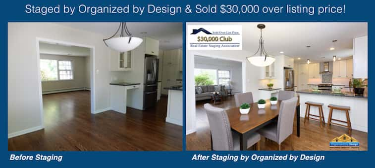 Organized by Design Before and After Staged and Sold $30K Over List Price