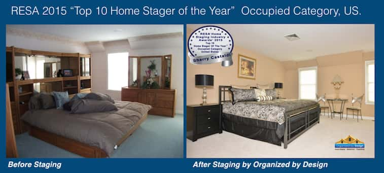 Organized by Design Home Staging Before and After