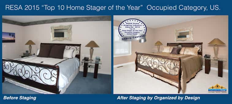 Organized by Design Before and After Home Staging