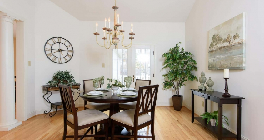 Organized by Design Vacant Home Staging of Dining Room