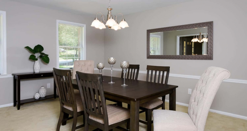 Organized by Design Vacant Home Staging Dining Room