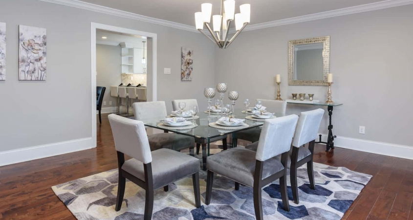 Organized by Design Staging of Vacant Home Dining Room