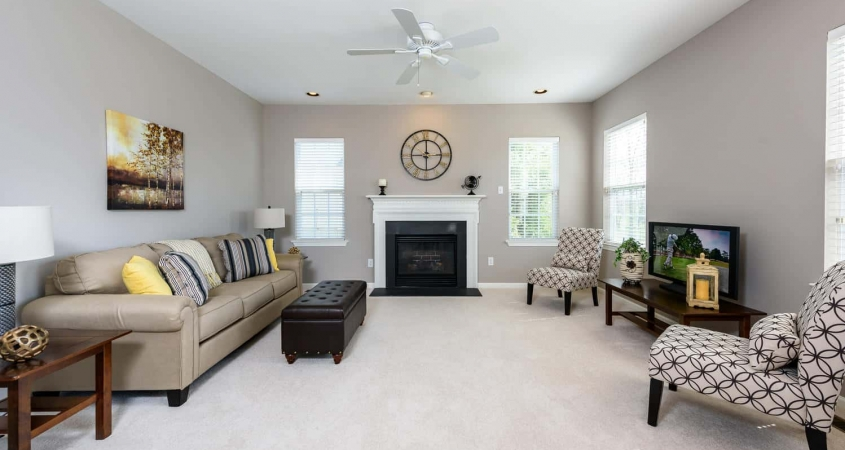 Organized by Design Vacant Home Staging Family Room