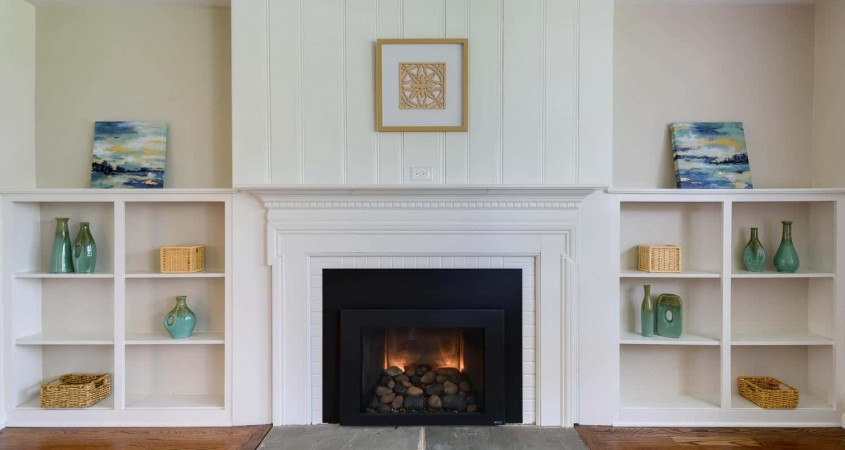 Organized by Design Vacant Home Staging Fireplace Built-ins