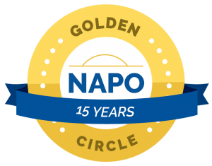 NAPO Golden Circle 15 Year Award Logo