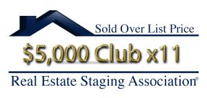 RESA Sold Over List Price Club: Organized by Design staging homes that sold over $5000 11x